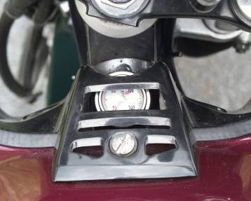 Blick aufs Ölthermometer