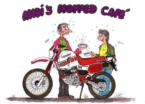 Moppedcafe-Comic von Ingo